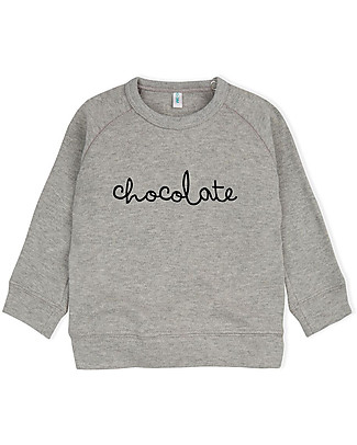 Organic Zoo Chocolate Sweatshirt, Grey - 100% Organic Cotton Sweatshirts
