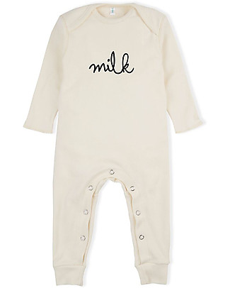 Organic Zoo Long Sleeved Milk Playsuit, Natural - 100% organic cotton Rompers