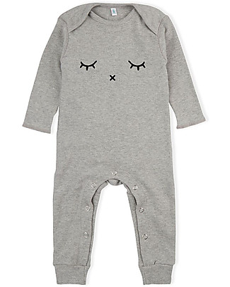 Organic Zoo Long Sleeved Sleepy Playsuit, Grey - 100% organic cotton Rompers