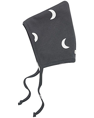 Organic Zoo Midnight Pixie Bonnet, Graphite - 100% Organic Cotton Hats