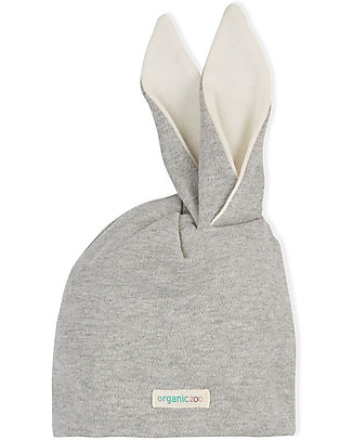 Organic Zoo Rabbit Hat, Grey - With Rabbit Ears Hats