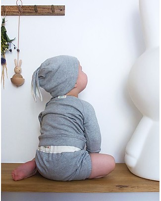 Organic Zoo Rabbit Hat, Grey - With Rabbit Ears Hats