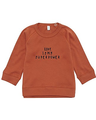 Organic Zoo Rust Sweatshirt Love, Brown  - 100% Organic Cotton Sweatshirts