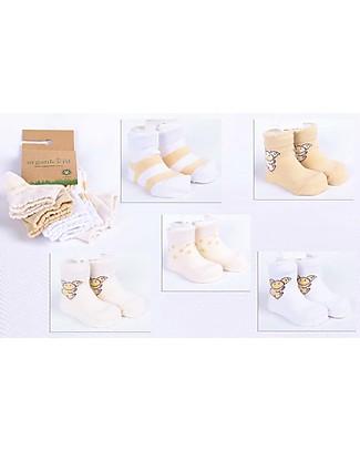 Organickid Little 5 Pack Socks - Koala - Organic Cotton  Socks