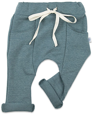 Origami Sweat Pants, Blue - Milk Fiber and organic cotton Trousers