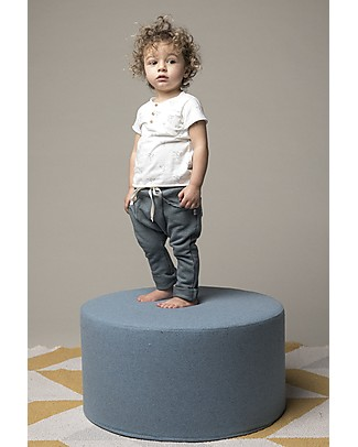 Origami Sweat Pants, Blue - Milk Fiber and organic cotton Trousers