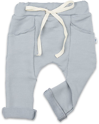 Origami Sweat Pants, Grey - Milk fiber and organic cotton Trousers