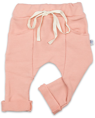 Origami Sweat Pants, Pink - Milk fiber and organic cotton Trousers