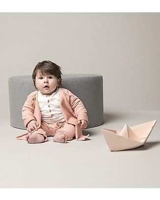 Origami Sweat Pants, Pink - Milk fiber and organic cotton Trousers