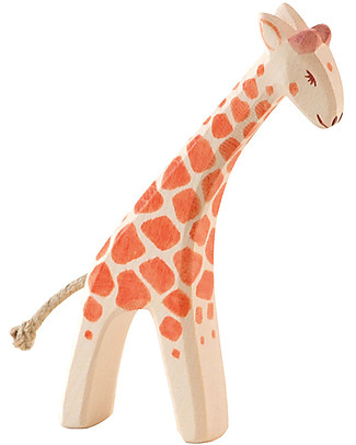 Ostheimer Giraffe Small, Hand-crafted, Sustainable Wood - 13 cm (H) Wooden Blocks & Construction Sets