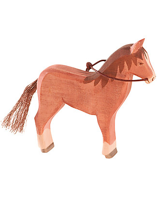 Ostheimer Horse Brown, Hand-crafted, Sustainable Wood - 13.5 cm (H) Wooden Blocks & Construction Sets