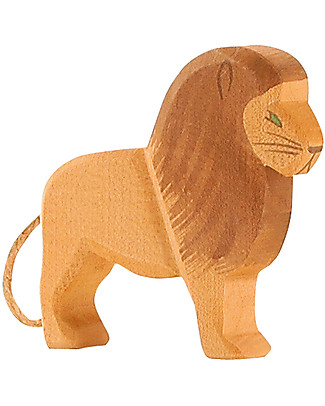 Ostheimer Lion Male, Hand-crafted, Sustainable Wood - 12 cm (H) Wooden Blocks & Construction Sets