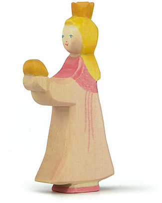 Ostheimer Princess for Frog King, Hand-crafted, Sustainable Wood - 13 cm (H) Wooden Blocks & Construction Sets