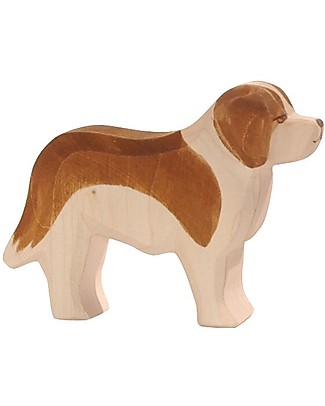 Ostheimer St Bernard Dog, Hand-crafted, Sustainable Wood - 8 cm (H) Wooden Blocks & Construction Sets