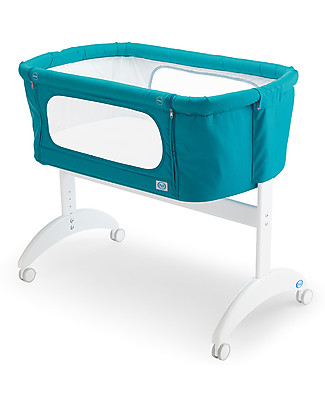 Pali Co-Sleeping Cot Maya, Ocean Blue - 0-6 months, solid beech wood Baby Slings