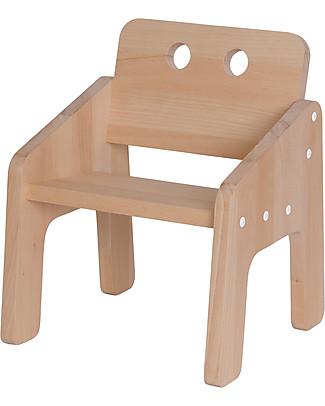 Paulette & Sacha Baby Chair Mini Boudoir, White - Solid beech wood  Chairs