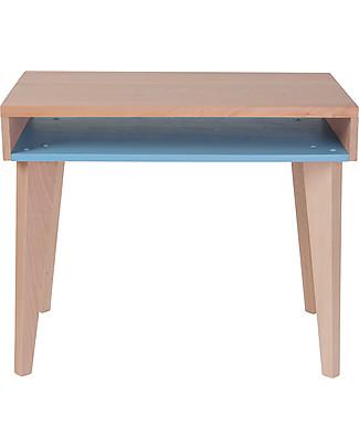 Paulette & Sacha Children Desk Trait d'Union, Blue - Solid beech wood  Tables And Chairs