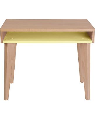 Paulette & Sacha Children Desk Trait d'Union, Lemon - Solid beech wood  Tables And Chairs