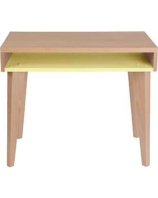 Paulette & Sacha Children Desk Trait d'Union, Lemon - Solid beech wood  Tables And Chairs