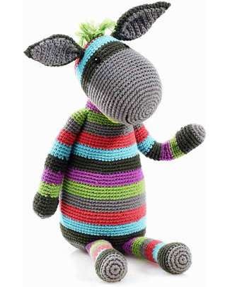Pebble Big Friends Crocheted Donkey Soft Toy - 40 cm tall Crochet Soft Toys