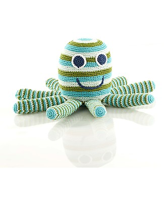 Pebble Big Friends - Large Octopus - Green - 28x16x14 cm Crochet Soft Toys