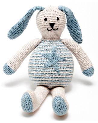 Pebble Bunny with Star Blue - Fair Trade & Organic - 20 cm tall null