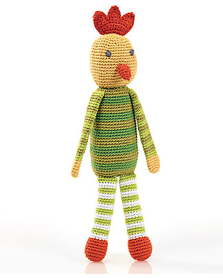 Pebble Chicken Crochet Rattle - 30 cm - Fair Trade Crochet Soft Toys
