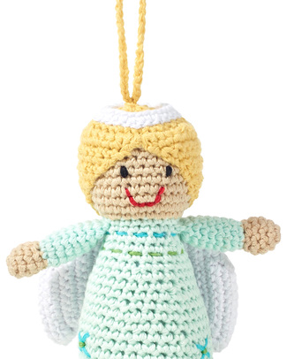 Pebble Christmas Crocheted Angel Decoration - Fair Trade Christmas Decorations