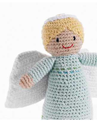 Pebble Christmas Crocheted Angel - Fair Trade Rattles