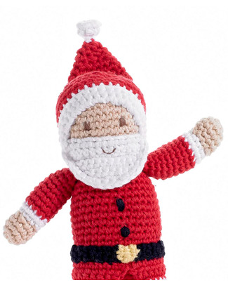 Pebble Christmas Crocheted Santa Claus Rattle - Fair Trade Rattles