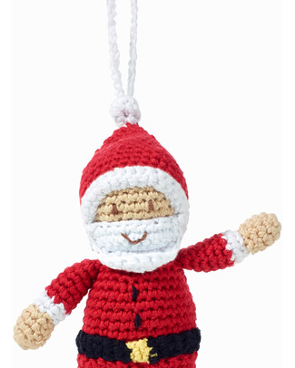 Pebble Christmas Crocheted Santaclaus Decoration - Fair Trade Christmas Decorations