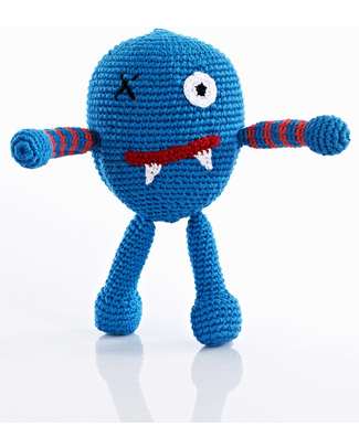 Pebble Chubby Monster Rattle - Scary null