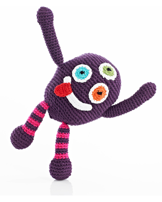 Pebble Chubby Monster Rattle - Silly null