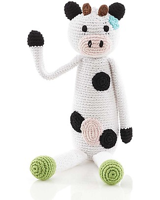 Pebble Cow Rattle - 30 cm tall, 100% organic cotton Rattles