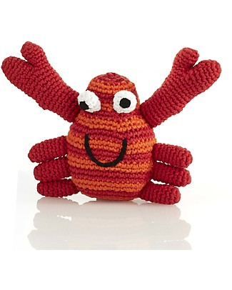 Pebble Crab Rattles - Red - Fair Trade  Rattles