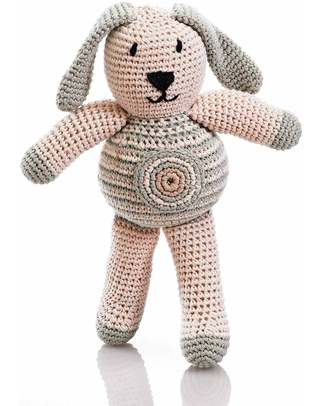 Pebble Crocheted Bunny Dove Grey - Fair Trade & Organic (20 cm tall) Crochet Soft Toys