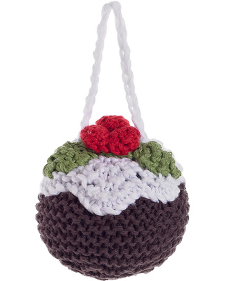 Pebble Crocheted Christmas Pudding Decoration - Fair Trade Christmas Decorations