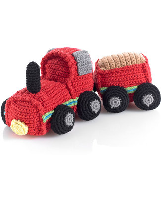 Pebble Crocheted Red Train Rattle - Fair Trade Rattles
