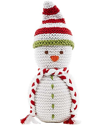 Pebble Crocheted Snowman Rattle, 18 cm - Fair Trade Rattles