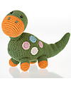 Pebble Dinosaur Rattle, Green - Fair Trade, Organic Cotton Rattles