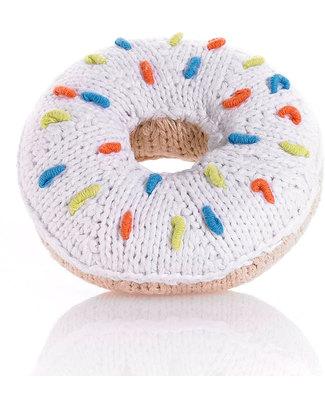 Pebble Doughnut Rattle - White Rattles