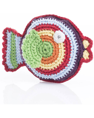 Pebble Fish Rattle - Rainbow Multicolor Rattles