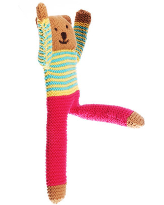 Pebble Flipps Doll - Nancy - Fuchsia - Fair Trade Crochet Soft Toys