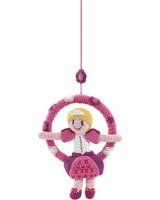 Pebble Hanging Ring - Princess - 27 cm - Fair Trade Mobiles