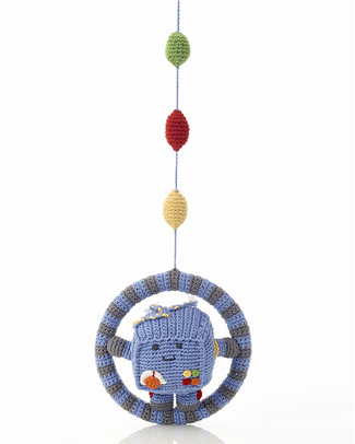Pebble Hanging Robot - Fair Trade Mobiles