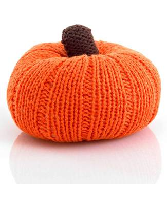 Pebble Individual Vegetable Rattles - Pumpkin - Fair Trade Rattles