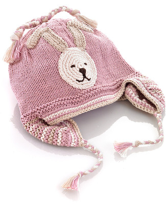 Pebble Knitted Bunny Hat Pink with Earflap - Bio & Fair Trade Hats