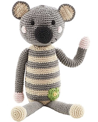 Pebble Koala Rattle - 30 cm tall, 100% organic cotton Rattles