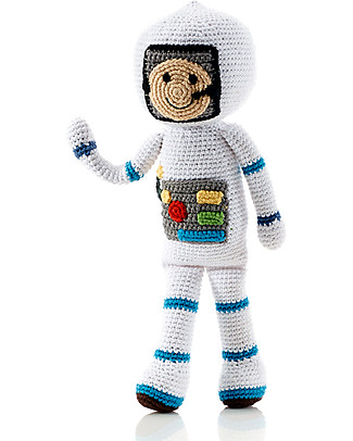 Pebble Once Upon a Time Crocheted Toy Spaceman, Fairtrade - Approx 30 cm tall Crochet Soft Toys