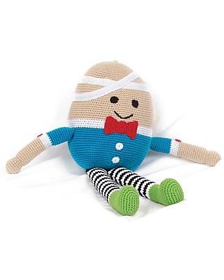 Pebble Once Upon a Time - Humpty Dumpty - 40 cm tall - Fair Trade Crochet Soft Toys
